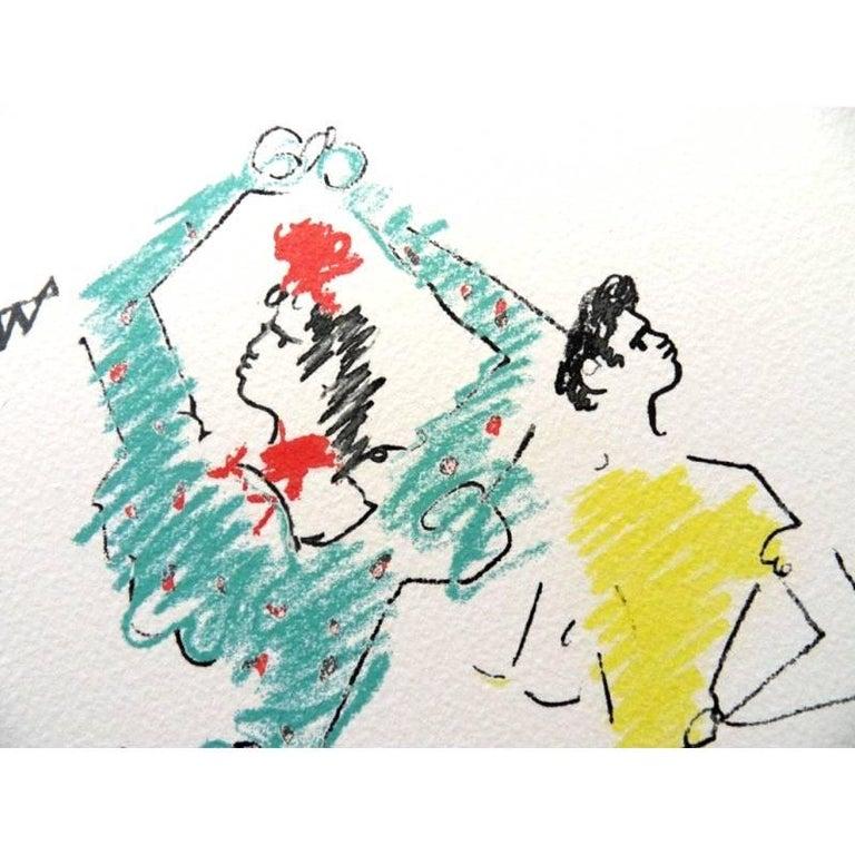 Jean Cocteau -  The Flamenco Dancer - Original Lithograph For Sale 2