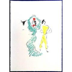 Jean Cocteau (after) -  The Flamenco Dancer - Lithograph