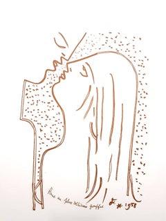 Jean Cocteau - The Kiss - Original Lithograph