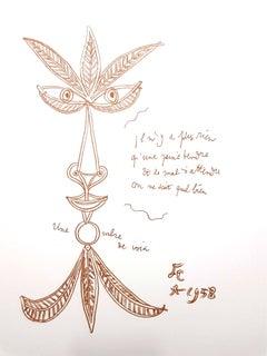 Jean Cocteau - The Voice - Original Lithograph