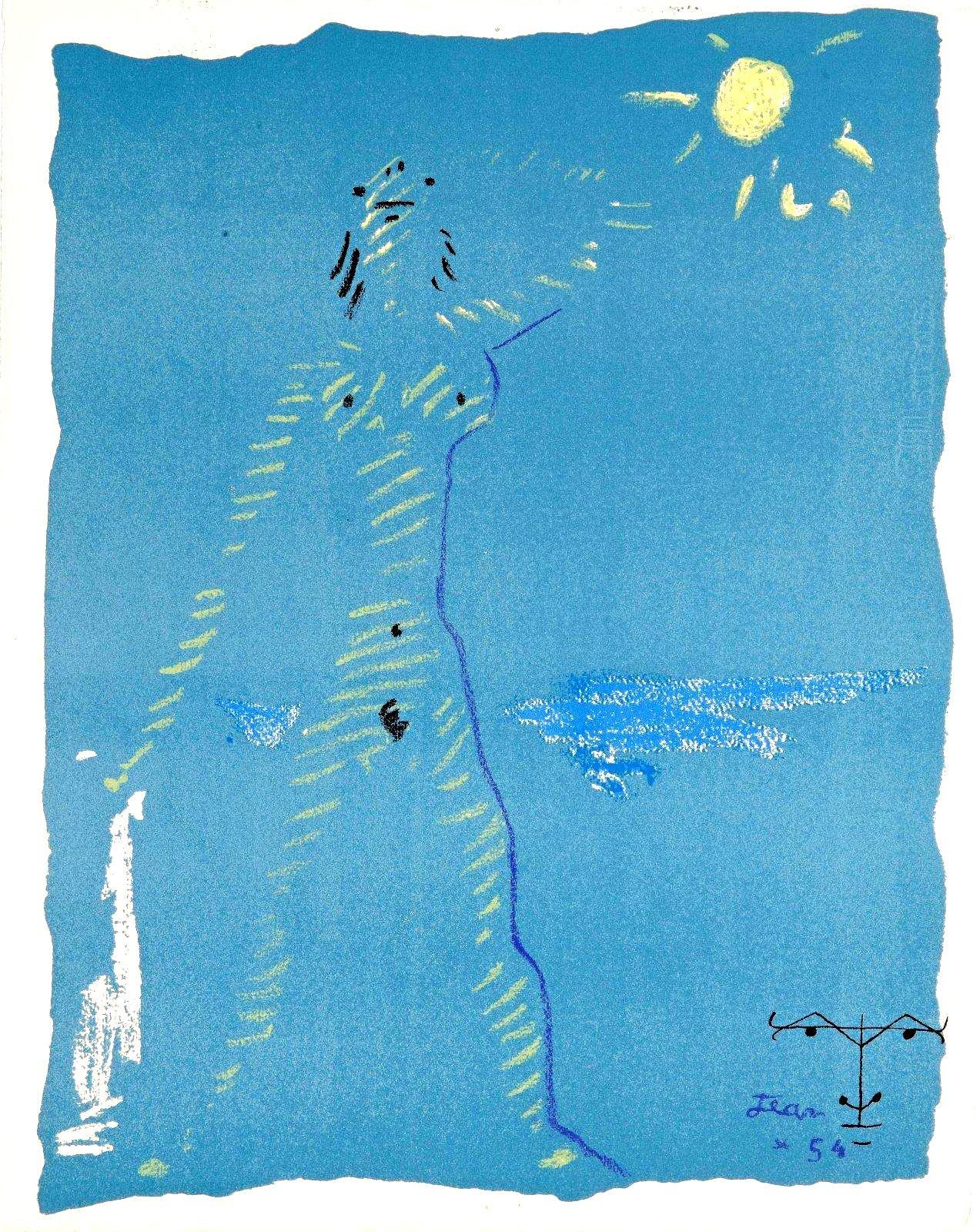 Jean Cocteau - Under the Fire Coat - Original Lithograph
