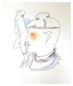 Jean Cocteau - White Book - Original Handcolored Lithograph