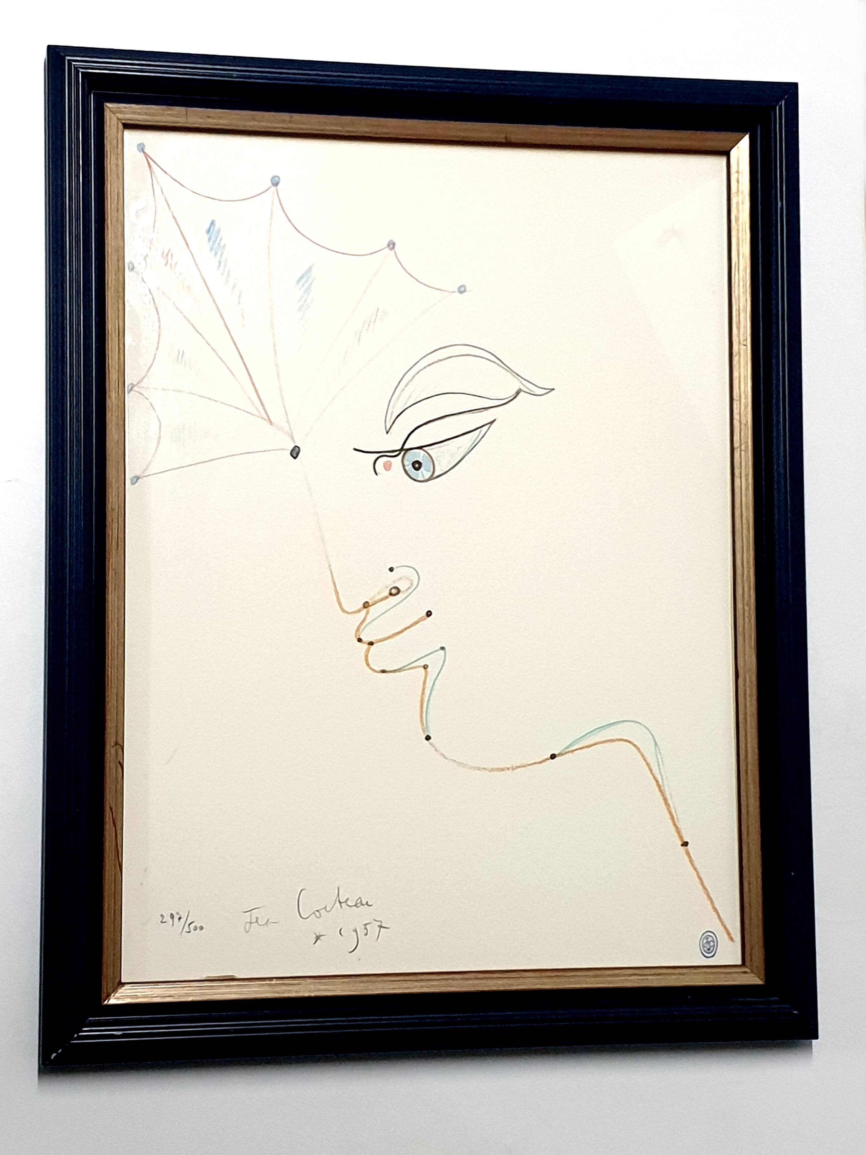 Jean Cocteau - Woman - Original Lithograph