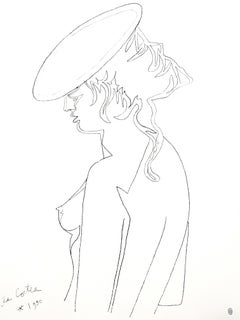 Jean Cocteau - Woman's Profile - Original Lithograph