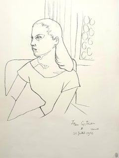 Jean Cocteau - Young Girl - Original Lithograph