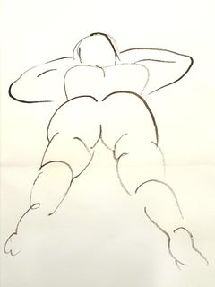 Jean Cocteau - Young Woman - Drawing