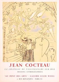 La Chapelle de Villefranche-sur-Mer - Au Pont des Arts, Jean Cocteau, Litho 1957