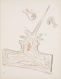 """Les Amoureux- From the Album """"Jean Cocteau Lithographies"""" by Jean Cocteau"""