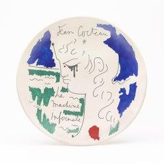 """original ceramic dish """" la machine infernale """" the infernal machine """".certified."""