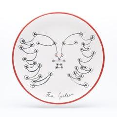 """original ceramic dish """" le génie des bois"""" """"the genius of the woods """". certified"""