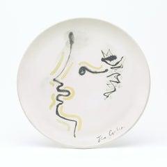 """original ceramic dish """" Till l'espiègle """"."""
