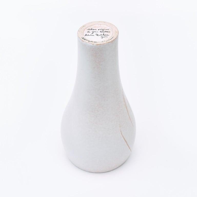 Ceramic Vase, Femme Voilée, Jean Cocteau For Sale 1