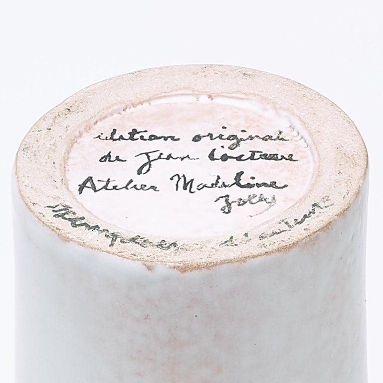 Ceramic Vase, Femme Voilée, Jean Cocteau For Sale 2