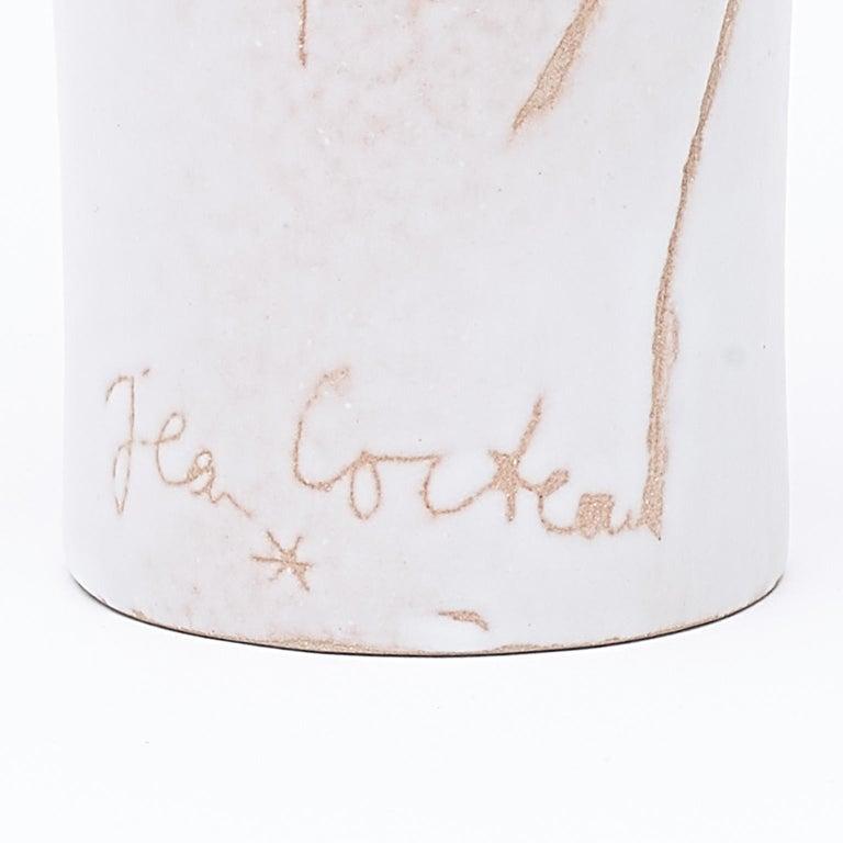 Ceramic Vase, Femme Voilée, Jean Cocteau For Sale 3