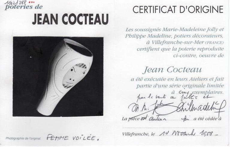 Ceramic Vase, Femme Voilée, Jean Cocteau For Sale 4