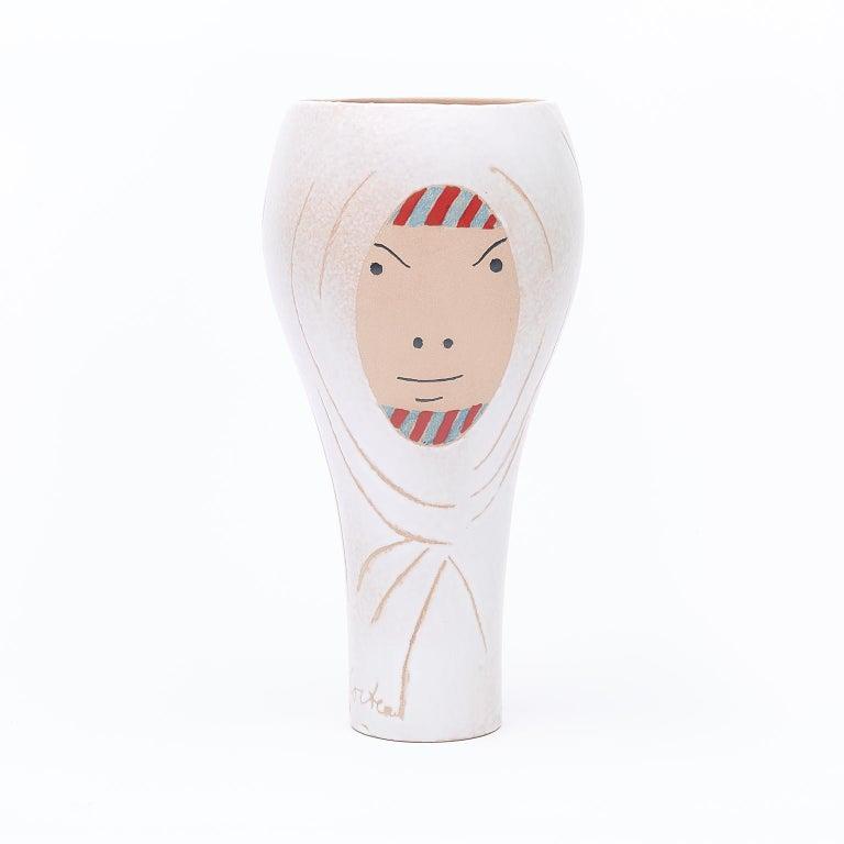 Ceramic Vase, Femme Voilée, Jean Cocteau - Print by Jean Cocteau