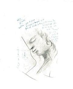 Profil - Original Lithograph after Jean Cocteau - 1982