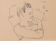 The Boy - Vintage Photolithograph by Jean Cocteau - 1930s