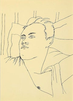 Young Boy - Original Lithograph by Jean Cocteau - 1930s
