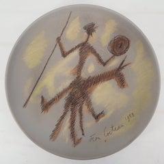 Don Quixote - Original signed ceramic, Certificate
