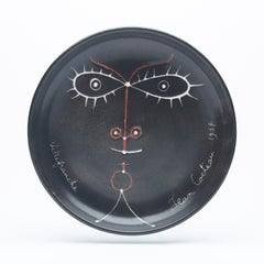 "original unic ceramic  dish "" la Joconde "" .pièce unique.Hors commerce ."