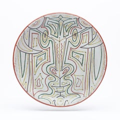 """original unic ceramic  dish """"Totem """" pièce unique"""