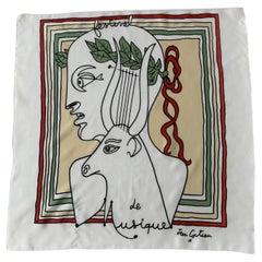 Jean Cocteau Silk Scarf, France