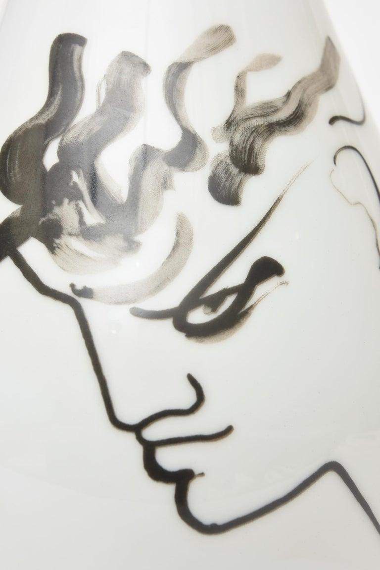 Jean Cocteau for Rosenthal Tetes Face Porcelain Hand Painted Vase Vessel For Sale 2