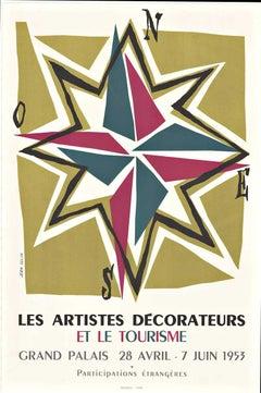 Original Les Artistes Decorateurs et le Tourisme French vintage poster