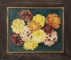 Mid Century Impressionist Chrysanthemums
