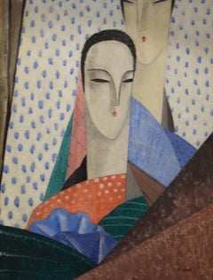 Femmes aux Longs Cous by Jean Crotti - Cubism, Orphism, Section d'Or