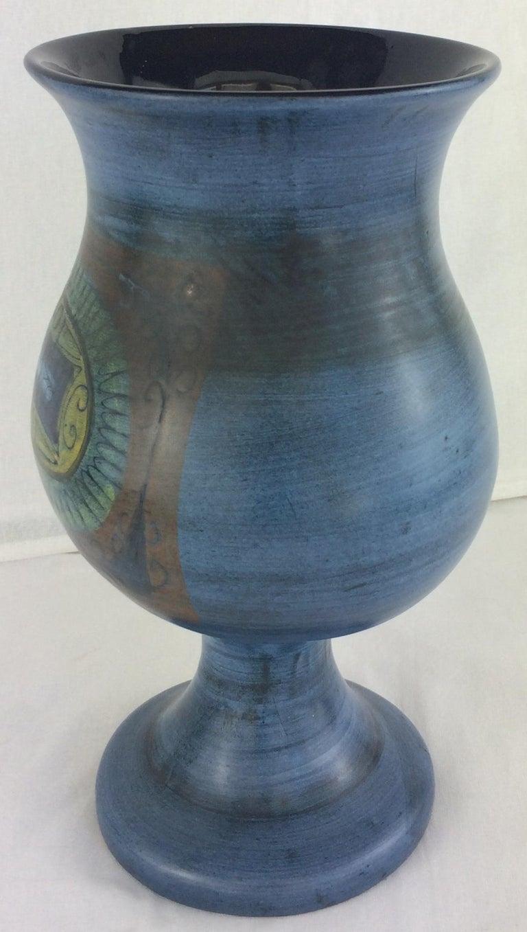 Glazed Jean de Lespinasse Midcentury Ceramic Vase For Sale