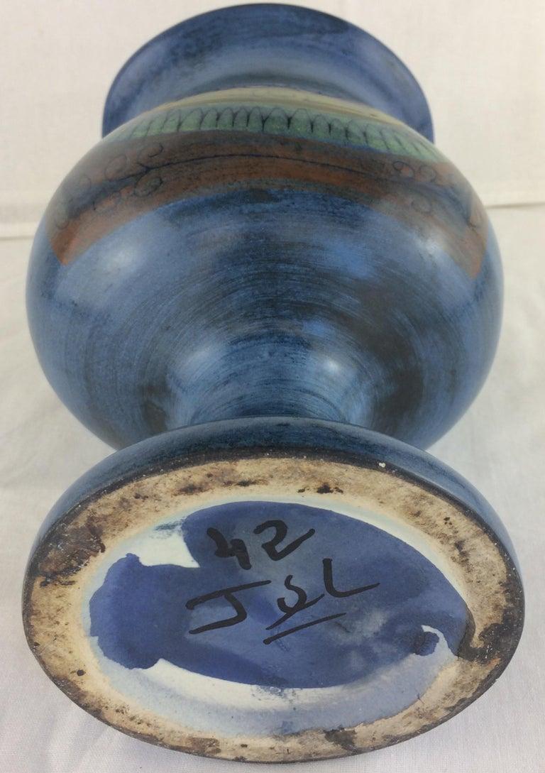 Jean de Lespinasse Midcentury Ceramic Vase In Good Condition For Sale In Arles, FR