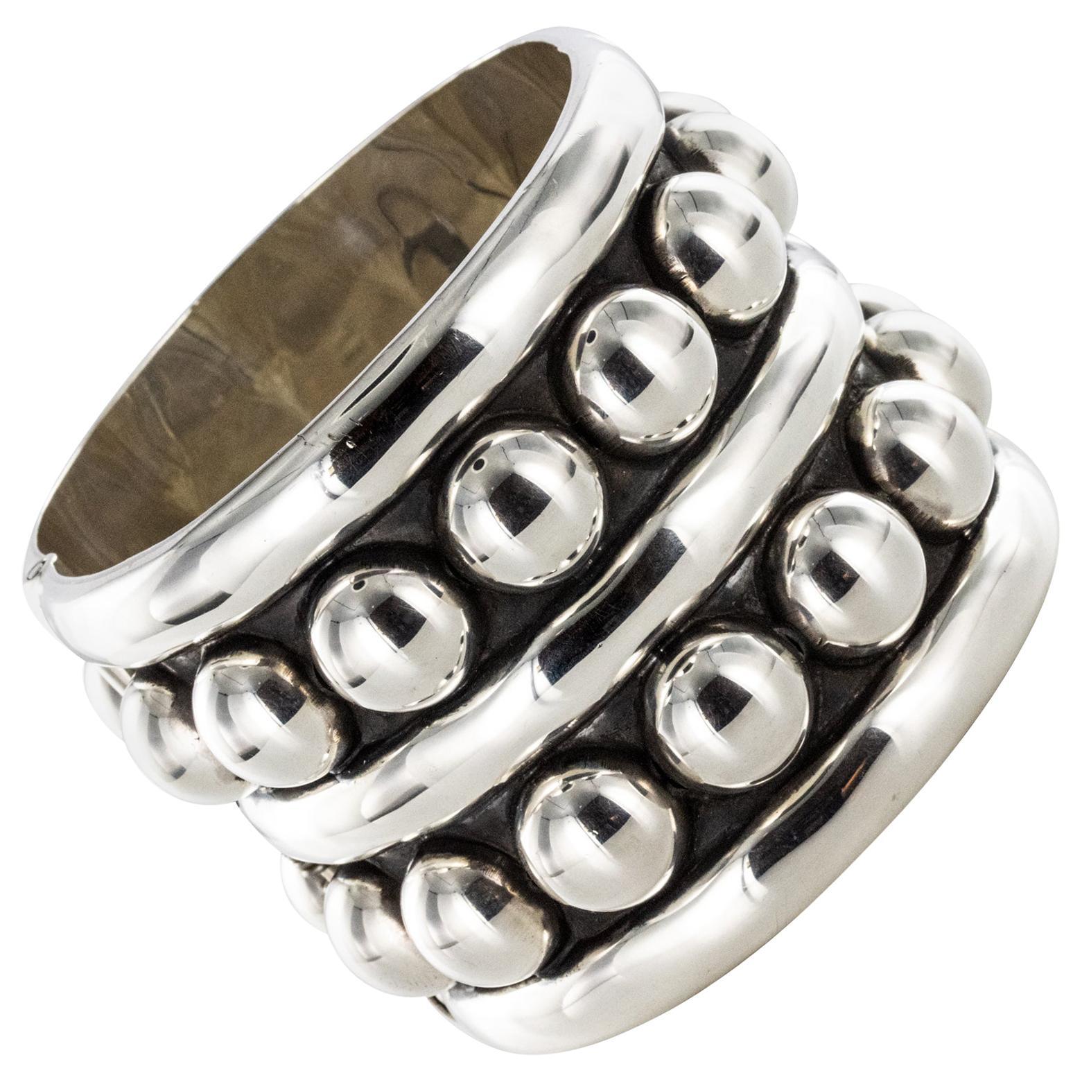 Jean Déprès Style Silver Cuff Bracelet