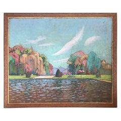 View of the Fontainebleau Castle Park by Jean D'esparbes, 1922