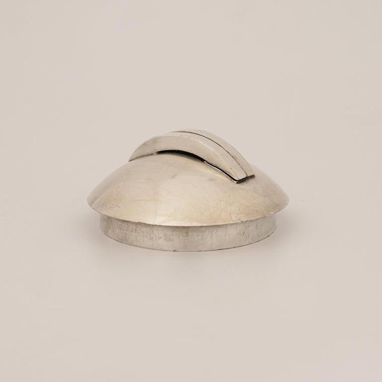 Jean Després, a Rare Tin and Madagascar Ebony Wood Tea-Pot, circa 1930 In Good Condition For Sale In Paris, FR