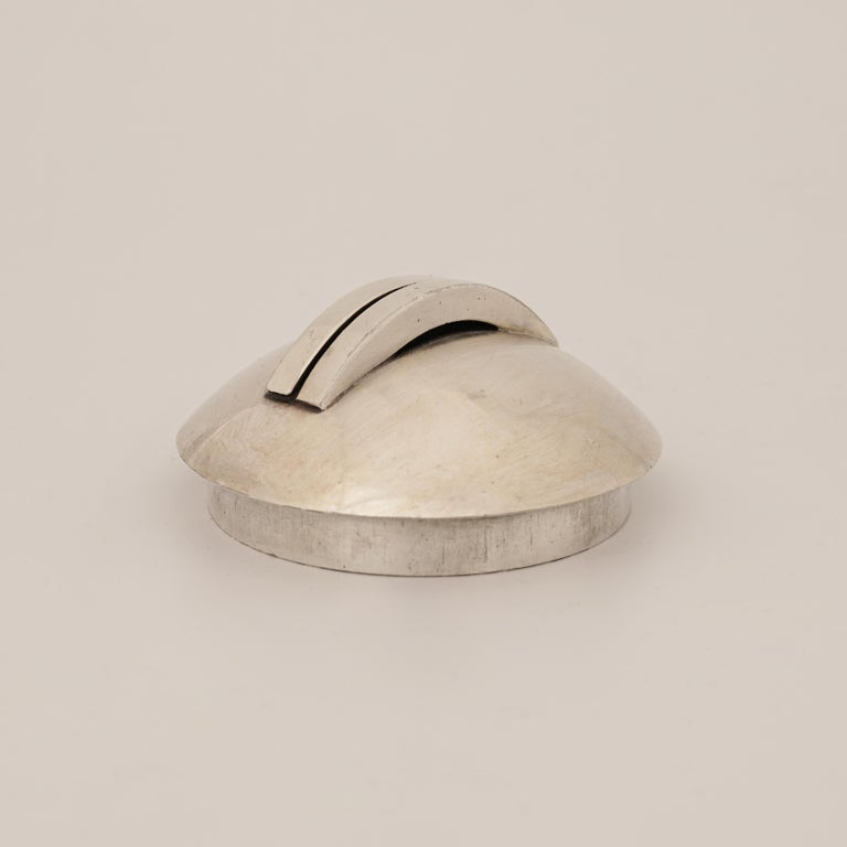 Mid-20th Century Jean Després, a Rare Tin and Madagascar Ebony Wood Tea-Pot, circa 1930 For Sale