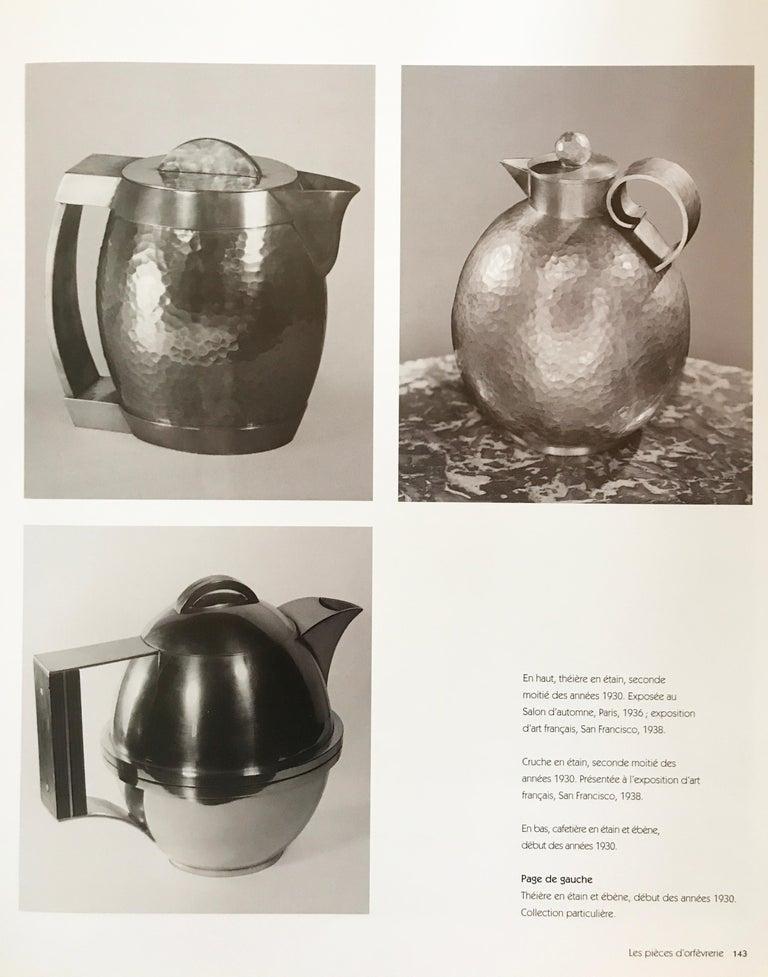 Jean Després, a Rare Tin and Madagascar Ebony Wood Tea-Pot, circa 1930 For Sale 2