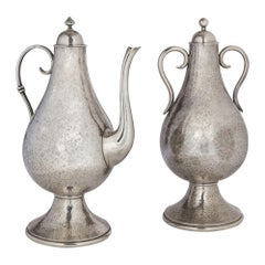 Jean Despres Covered Urn and a Jug Treated in the Ottoman Style, circa 1930