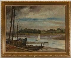 Jean Dryden Alexander (1911-1994) - Gilt Framed Oil, Kirby Quay