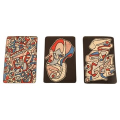 Jean Dubuffet, Original Serigraphy, Banque De L´Hourloupe, 3 Playing Cards