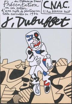 1974 After Jean Dubuffet 'CNAC' Outsider Art Lithograph