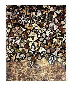 after Jean Dubuffet - Flowers - Pochoir