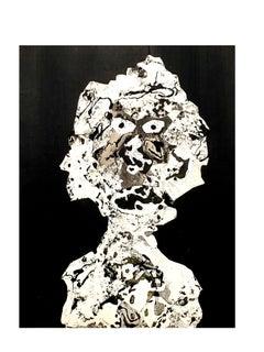 after Jean Dubuffet - Woman - Pochoir