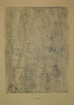 Boulevard - Original Lithograph by Jean Dubuffet - 1959