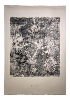 Cartographie - Original Lithograph by Jean Dubuffet - 1959