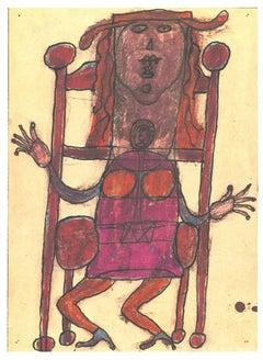 Composition - Original Lithograph after Jean Dubuffet - 1982