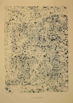 Congrès Poudreux - Original Lithograph by Jean Dubuffet - 1959