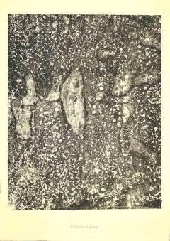 Eau Vive et Pierres - Original Lithograph by Jean Dubuffet - 1950s