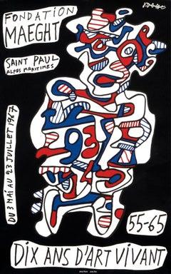 """Fondation Maeght - Dix Ans d'Art Vivant"" Dubuffet - Art Brut Exhibition Poster"